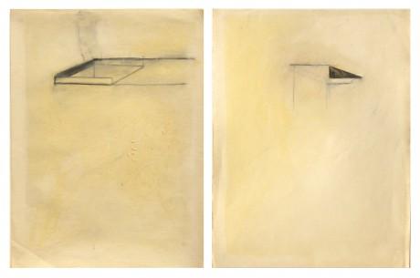 1994 - Sem título, pastel de óleo e grafite sobre papel, 30 x 20 cm cada (díptico)