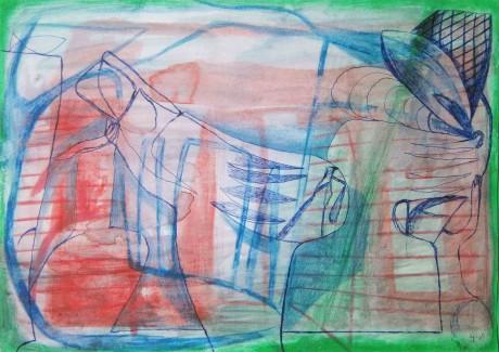 pequena-migração-2005-aguarela-lapis-de-cor-e-esferografica-sobre-papel-21-x-28-cm
